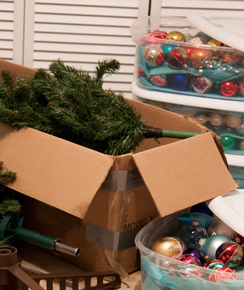 Chances are youve got a lot of holiday decor taking up space in your home. Here are some tips to