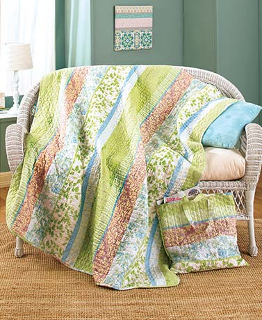 Quilted Throw and Tote Sets