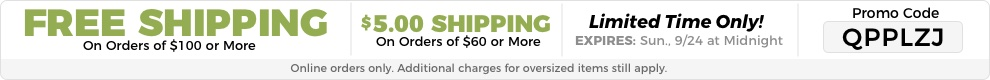 Enter QPPLZJ For Free Shipping On Orders Of $100 Or More Or $5.99 Shipping On Orders Of $60 Or More