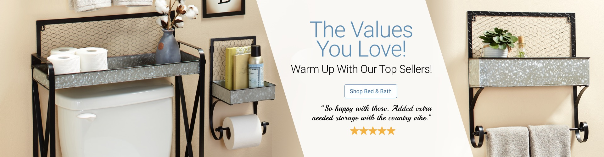 The Values You Love Galvanized Farmhouse Bathroom Collection Shop Now