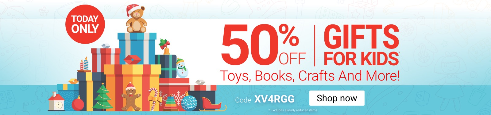 Save 50% On All Gifts For Kids Code XV4RGG Shop Now