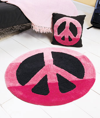 Peace Sign Or Love Room Accents