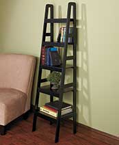 Ladder Shelf Storage - Ladder 5 Shelf with Storage