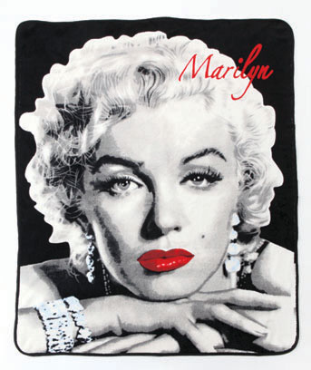 "Marilyn 50"" x 60"" Licensed Plush Throw"