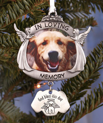 Pewter Dog Memorial Ornament