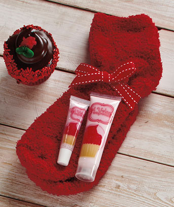 Unique's Shop Cupcake Cozy Sock Sets- Red Velvet at Sears.com