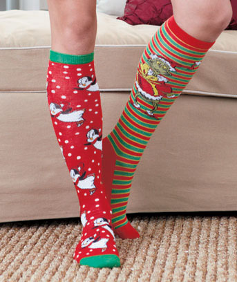 4-Pair Licensed Holiday Knee-High Socks