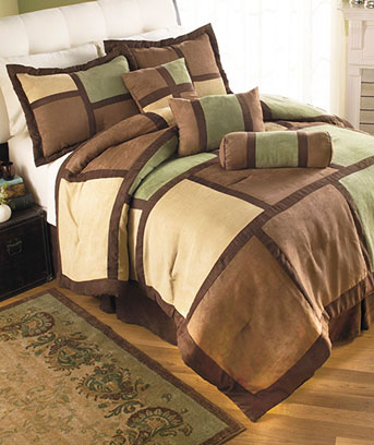 7-Pc. Microsuede Comforter Sets