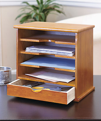 4-Slot Wood Mail Organizers