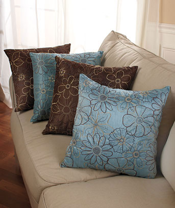 2-Pc. Embroidered Pillow Sets