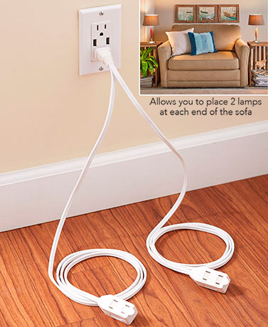 Split Extension Cord Power Strip