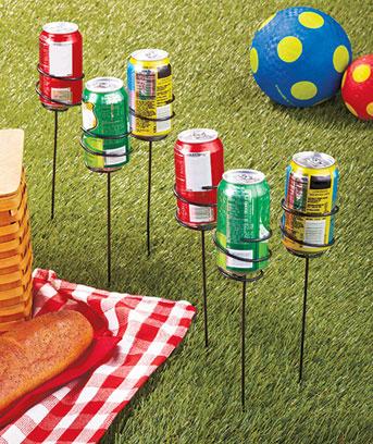 Sets of 6 Outdoor Beverage Holders