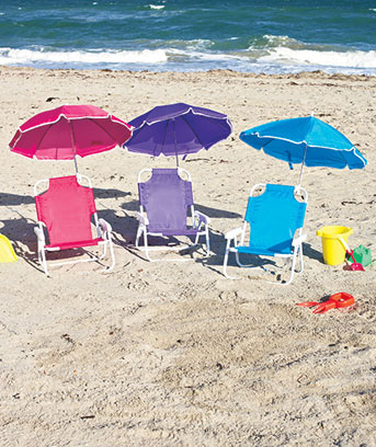 Kids' Beach Chair with Adjustable Umbrella