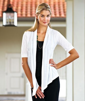 Banded Waist Open Front Cardigans
