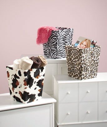 Charmant Animal Print Storage Bins