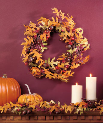 Autumn Colors Wreath or Garland