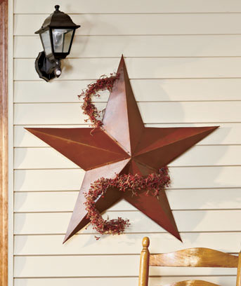 "36"" Rustic Dimensional Barn Star"