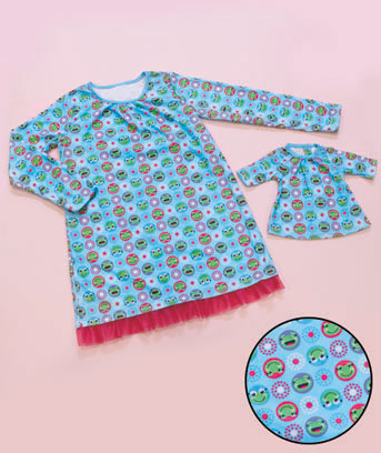 Matching Girl & Doll Nightgown Sets