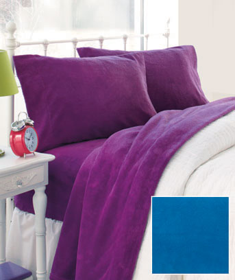 Bright Plush Microfleece Sheet Sets