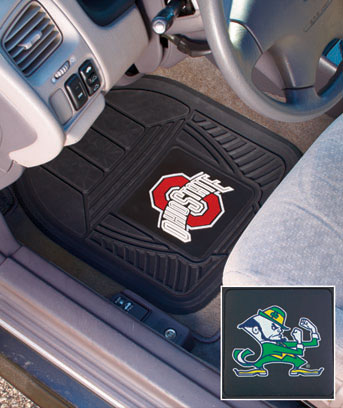 Sets of 2 Collegiate Vinyl Car Mats