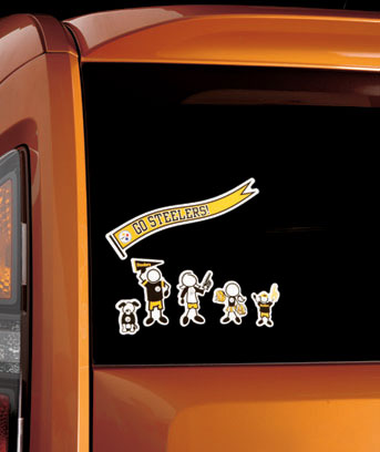 NFL 25-Pc. Family Auto Decal Sets