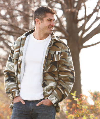 Unique's Shop Men's Sherpa-Lined Fleece Jackets-Camo M 38/40 at Sears.com