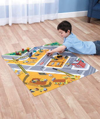 Road Playmats with Vehicles