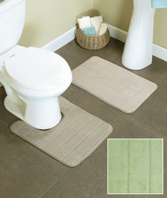 2-Pc. Foam Bath Rug Sets