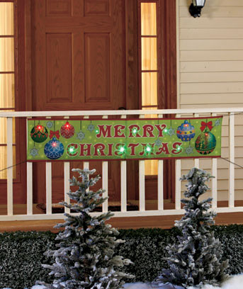 5-Ft. LED Holiday Banner