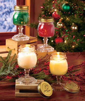 Holiday Canning Jar Candles