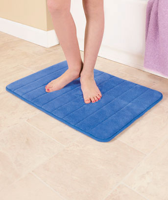 Bright Plush Foam Bath Rugs