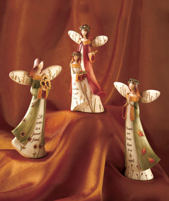 Sentiment Angel Figurines