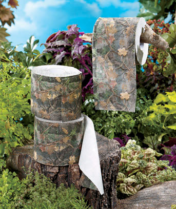 Set of 3 Outdoorsman Toilet Paper Rolls