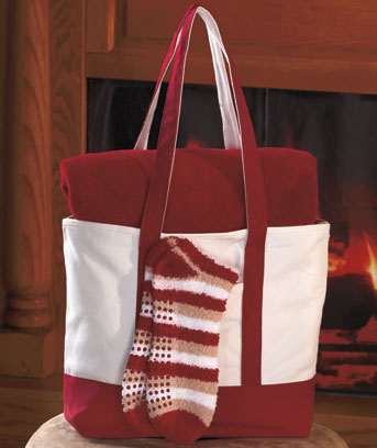 Cozy Throw & Socks Gift Tote Sets