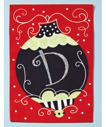 Holiday Monogram Garden Flags