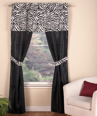 5-Pc. Complete Animal Print Curtain Sets