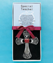 Jeweled Sentiment Cross