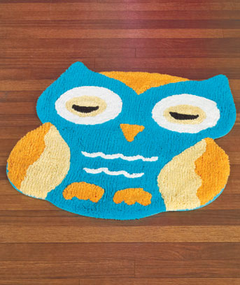 Owl-Shaped Pillows or Rugs