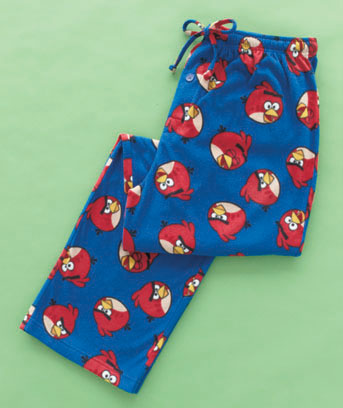 Angry Birds Men's Licensed Fleece Lounge Pants