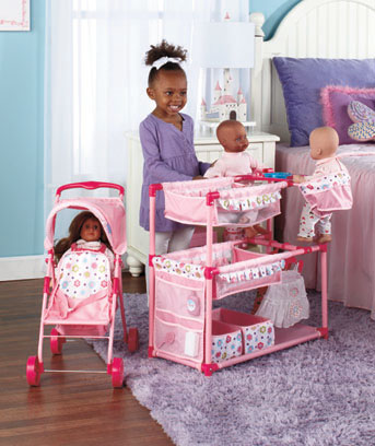 Baby Doll Play Center or Tandem Stroller