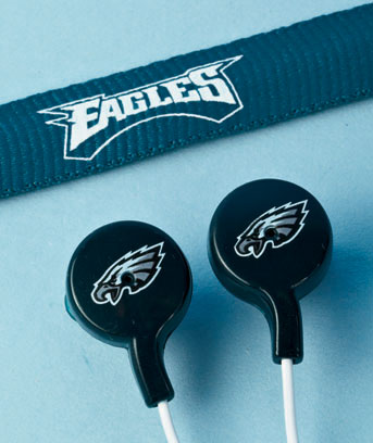 NFL Tangle-Free Earbuds