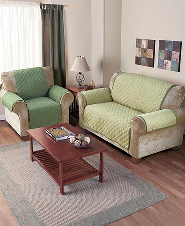 Reversible Quilted Furniture Covers
