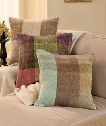 "16"" Chenille Plaid Pillows"