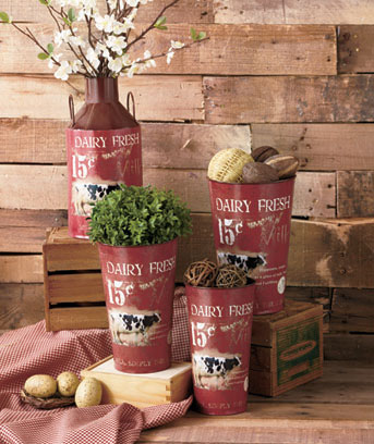 Rustic Milk Can Decor