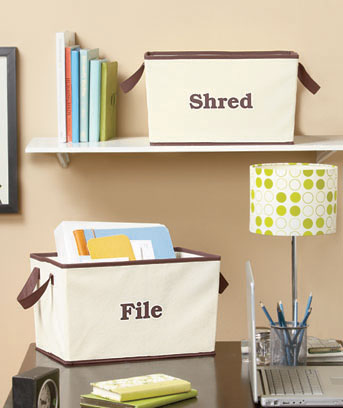 Set of 2 Shred and File Bins