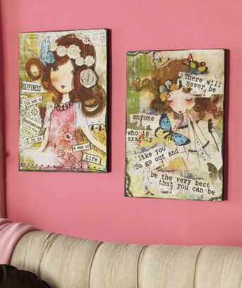 Inspirational Girl Canvas Art