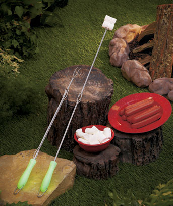 Set of 2 Glow-in-the-Dark BBQ Skewers
