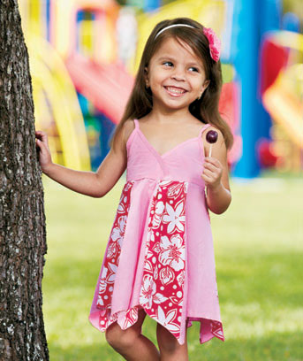 Girls' Handkerchief Hem Dresses
