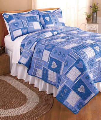 Country Hearts Quilts or Shams
