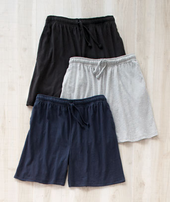 Men's Set of 3 Knit Lounge Shorts